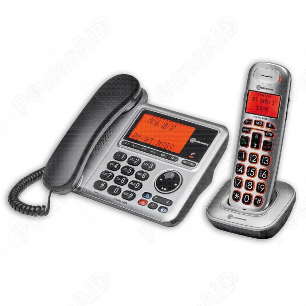 Amplicomms - BigTel 1480 telefono combo