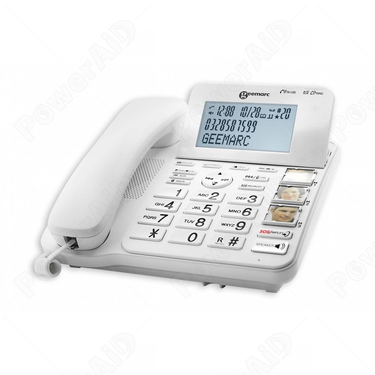 Geemarc - CL 595 - Telefono amplificato con segreteria