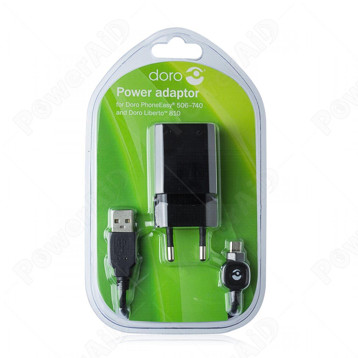 Doro - Adattatore 220v per Cellulari e Smartphone