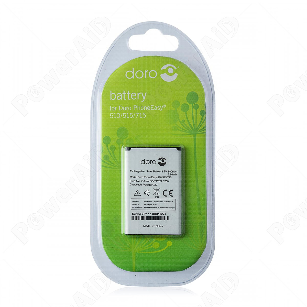 Doro - Batteria per PhoneEasy 50x / 510 / 515 / 715