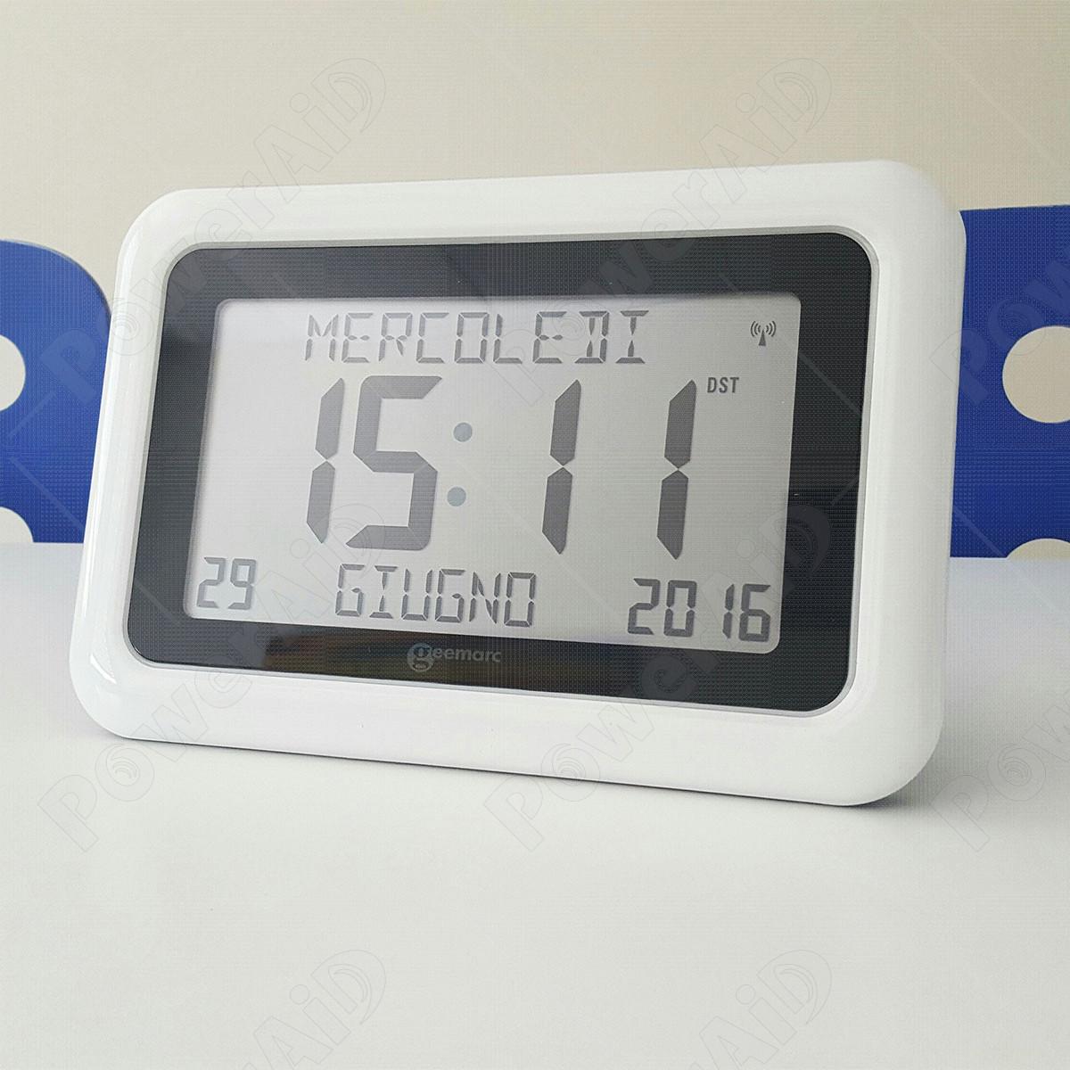 Geemarc - VISO10 orologio per demenza - Bianco
