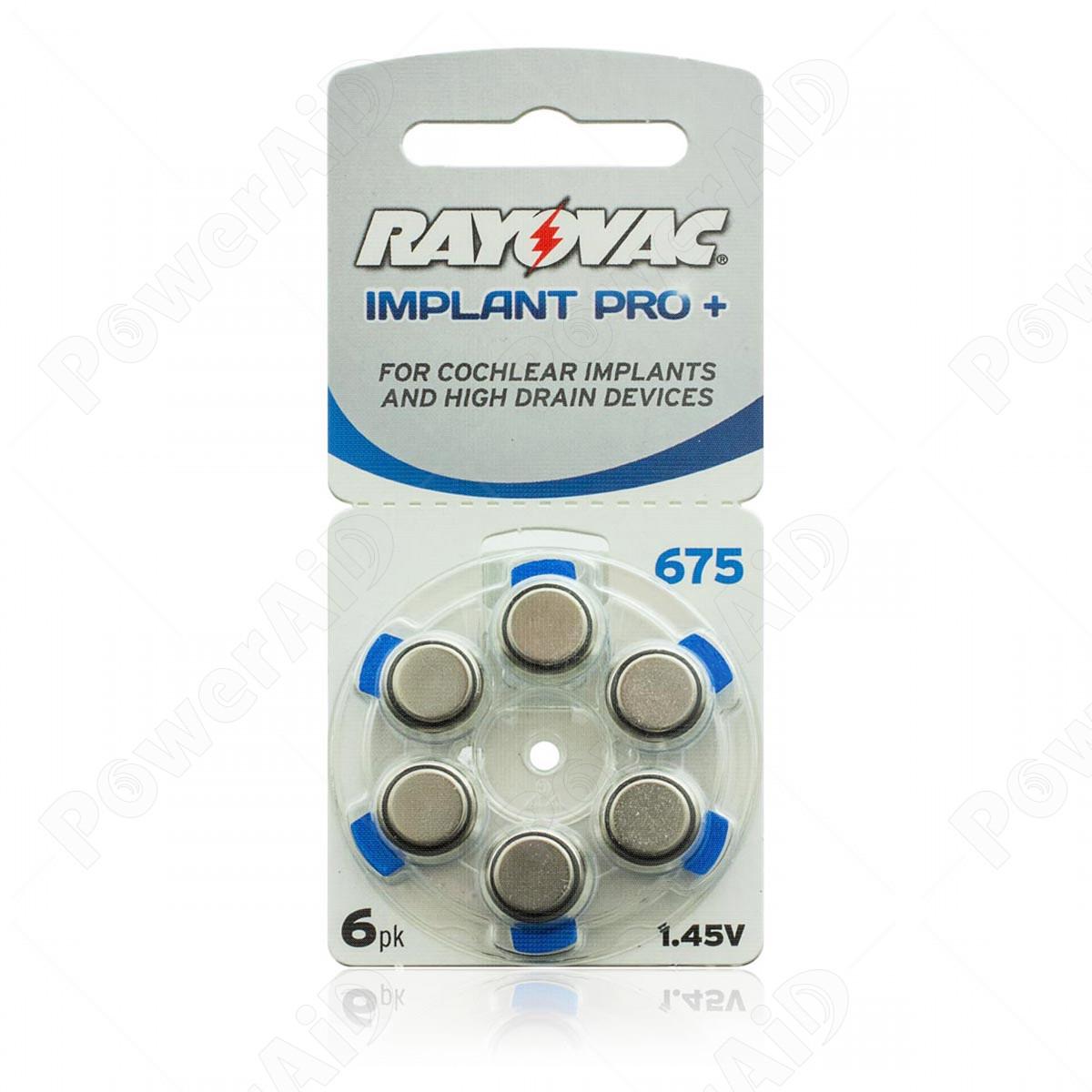 Rayovac - Blister 6 pile Implant Pro+