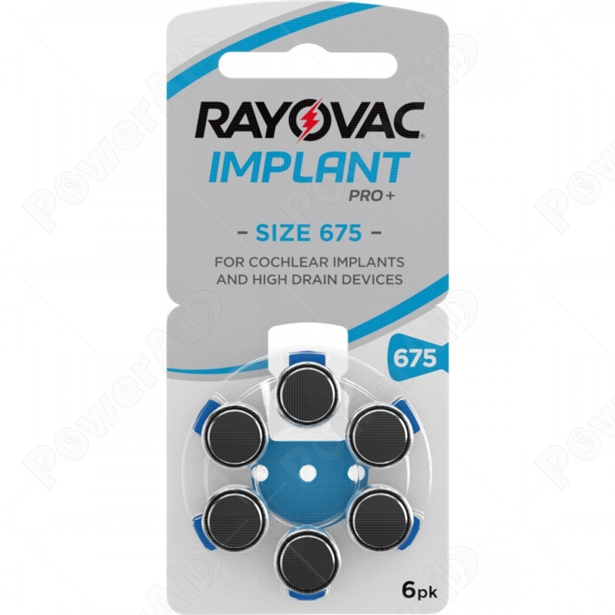 Rayovac - Blister 6 pile Implant Pro+