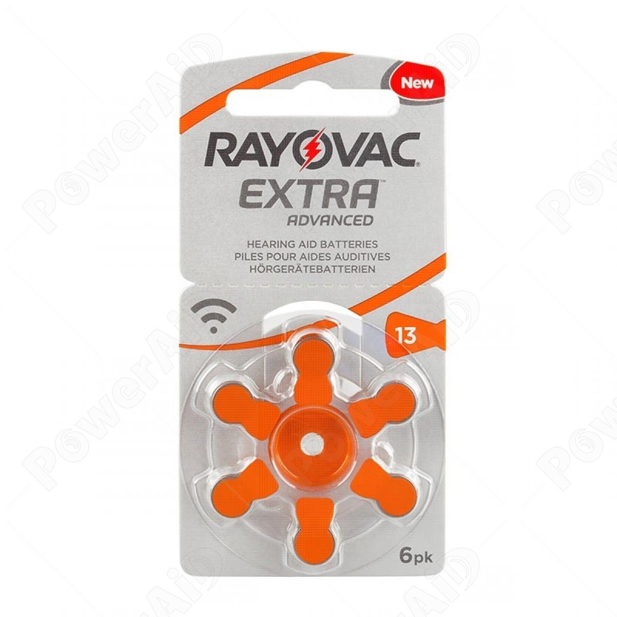 Rayovac - Blister 6 pile Acustiche Extra Advanced 13