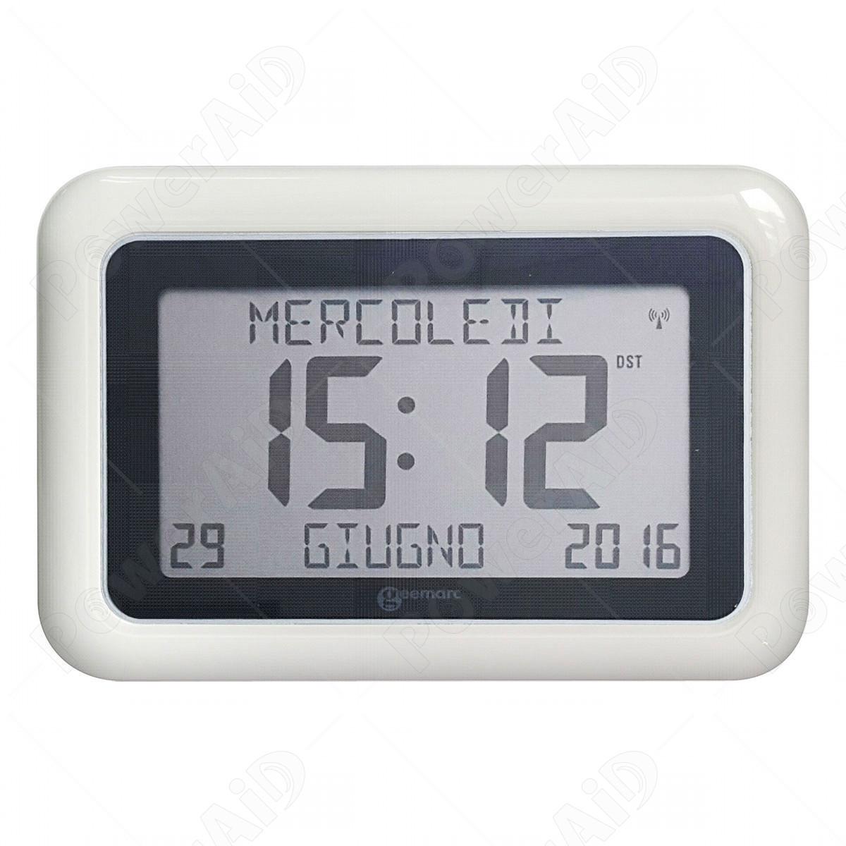 Calendario Digitale Per Anziani.Geemarc Viso10 Orologio Per Demenza Bianco