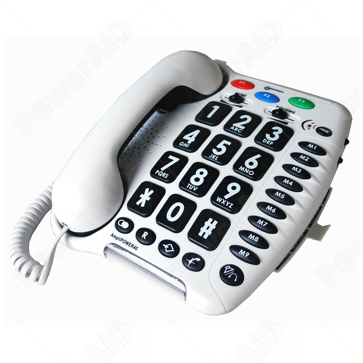 Geemarc - AmpliPOWER 40 Bianco telefono amplificato - Telefoni Fissi ... f009d15256e9