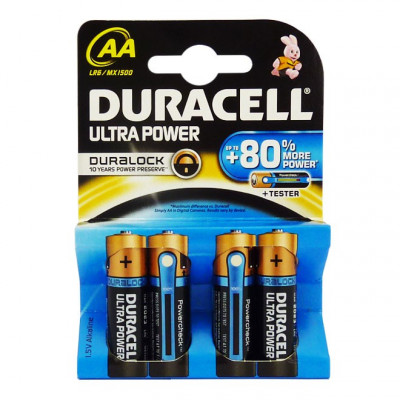 Duracell - Ultra Power 4 pile Stilo AA
