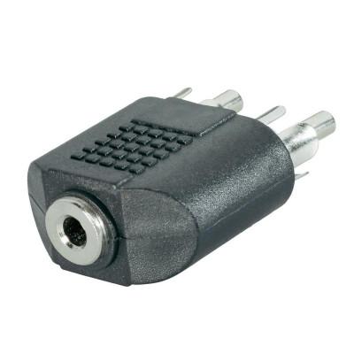 Adattatore audio Stereo F 3.5mm - 2 x RCA M