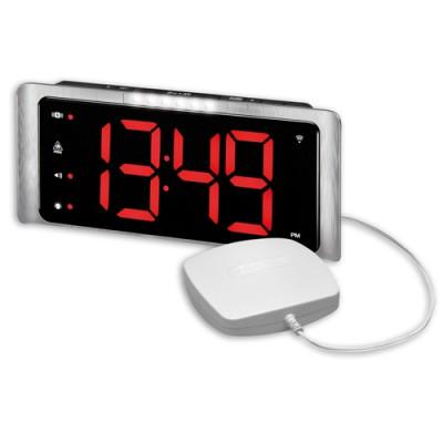 Amplicomms - TCL 410 sveglia con Vibrazione, Flash e USB e pad incluso