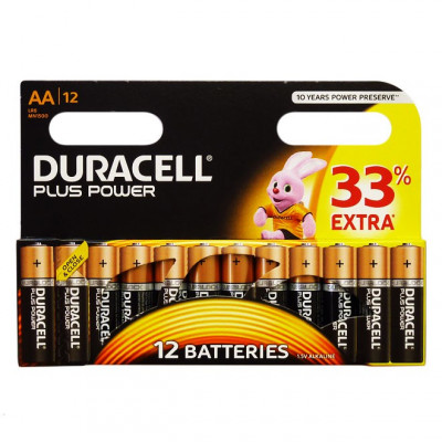 Duracell - Plus Power 12 pile Stilo AA