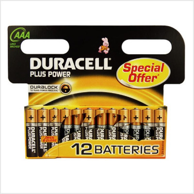Duracell - Plus Power 12 pile Mini Stilo AAA