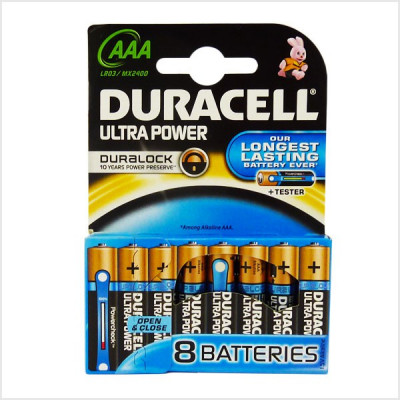 Duracell - Ultra Power 8 pile Mini Stilo AAA