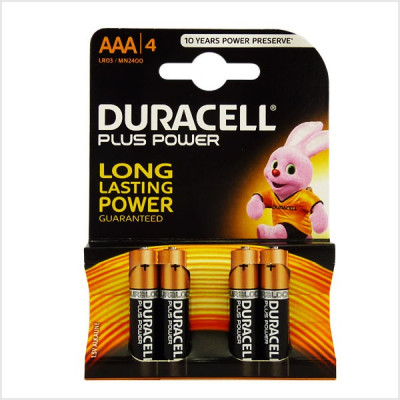 Duracell - Plus Power 4 pile Mini Stilo AAA