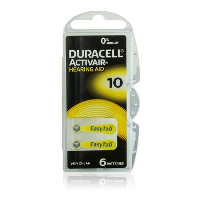 Duracell - Blister 6 pile Acustiche Activair 10