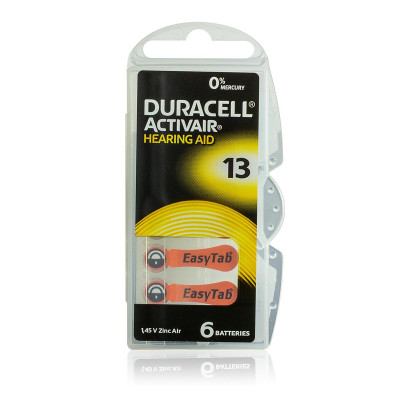 Duracell - Blister 6 pile Acustiche Activair 13