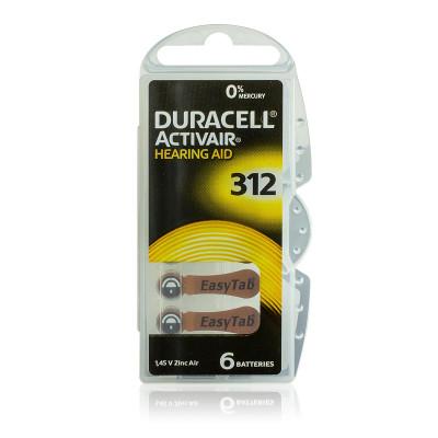 Duracell - Blister 6 pile Acustiche Activair 312