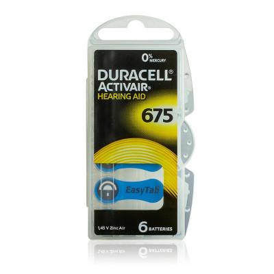 Duracell - Blister 6 pile Acustiche Activair 675