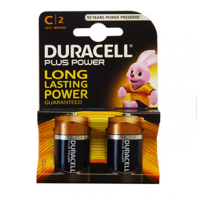 Duracell - Plus Power 2 pile Mezza Torcia C
