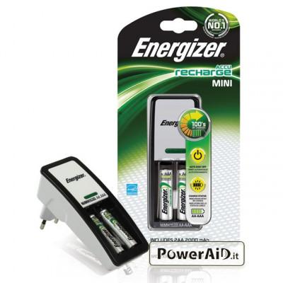 Energizer - Caricabatterie Stilo AA con 2 Batterie 2000mAh