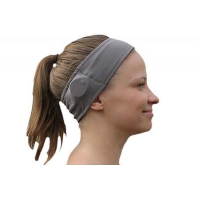 SmartEAR - Fascia sportiva per apparecchi acustici BTE o impianti cocleari Colore: Grigio - M