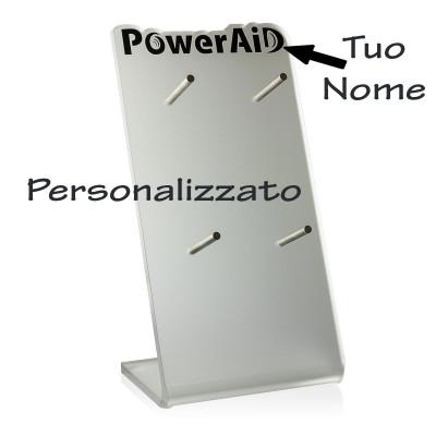 Espositore in Plexiglas 4 ganci con Sagomatura Personalizzata