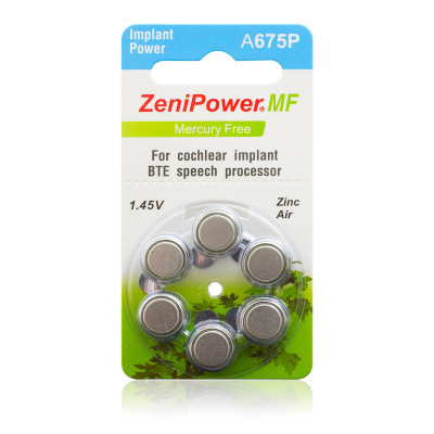 ZeniPower - Blister 6 pile Implant Power A675P