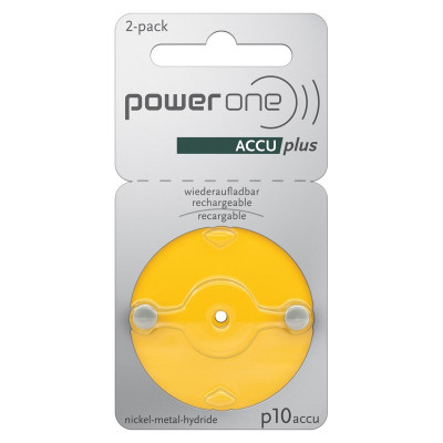 Power One - Blister 2 pile Acustiche ACCUplus p10
