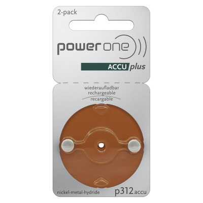 Power One - Blister 2 pile Acustiche ACCUplus p312